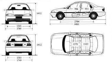 Ford Mondeo I Sedan • Dane techniczne • AutoCentrum.pl