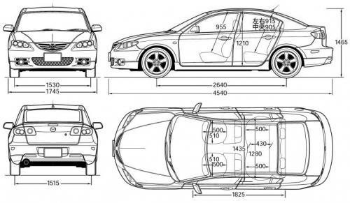 Mazda 3 I Sedan • Dane techniczne • AutoCentrum.pl