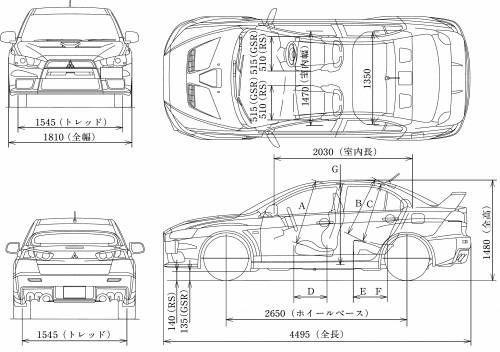Mitsubishi Lancer Evolution X • Dane techniczne