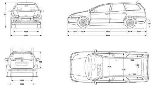 Citroen C5 II Kombi • Dane techniczne • AutoCentrum.pl
