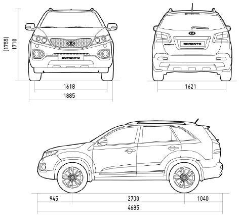 Kia Sorento II SUV • Dane techniczne • AutoCentrum.pl