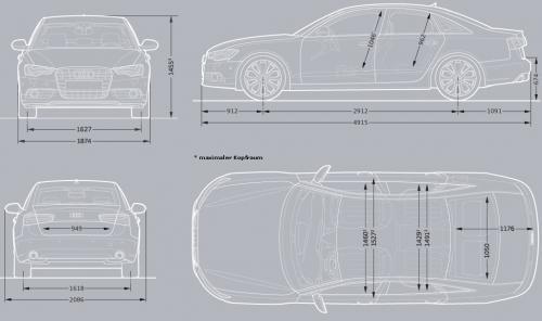Audi A6 C7 Limousine • Dane techniczne • AutoCentrum.pl