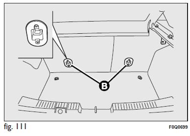 Fiat Bravo: Predisposizione per montaggio seggiolino