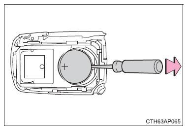 Toyota Auris Hybrid: Batteria della chiave elettronica