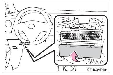Toyota Auris Hybrid: Controllo e sostituzione dei fusibili