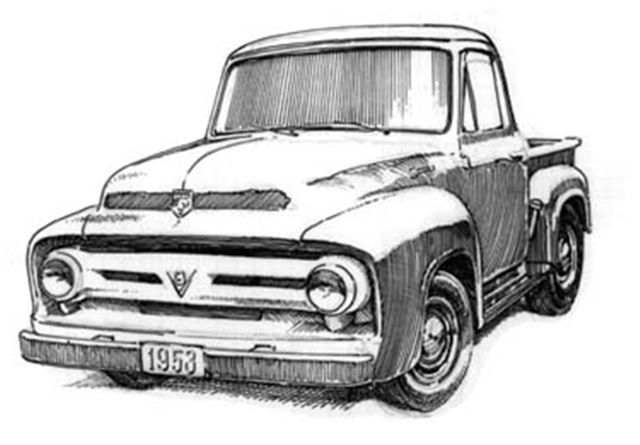 1953 ford tow truck
