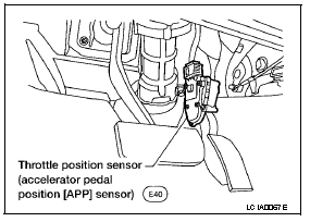 P1705 2005 NISSAN ALTIMA SEDAN Throttle Position Sensor
