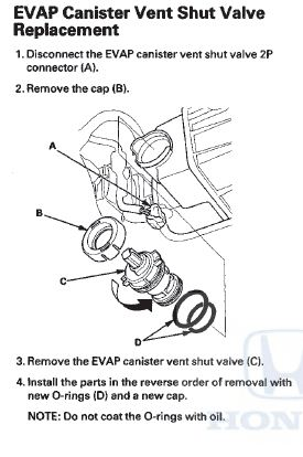 P2422 2010 HONDA ACCORD Evaporative Emission System Vent