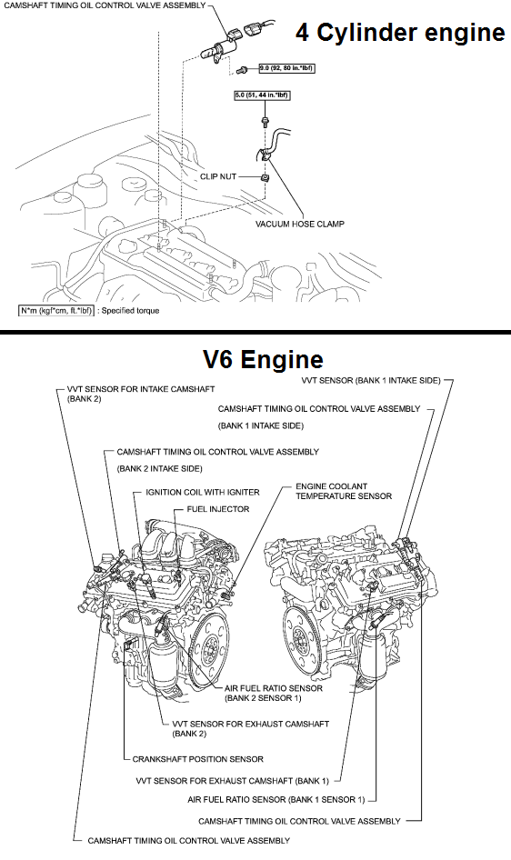 P0011 2007 TOYOTA CAMRY Camshaft Position 'A' Timing Over