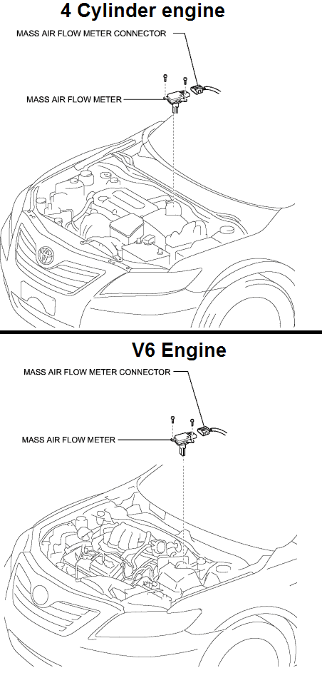 P0103 2009 Toyota Camry Mass or Volume Air Flow Circuit