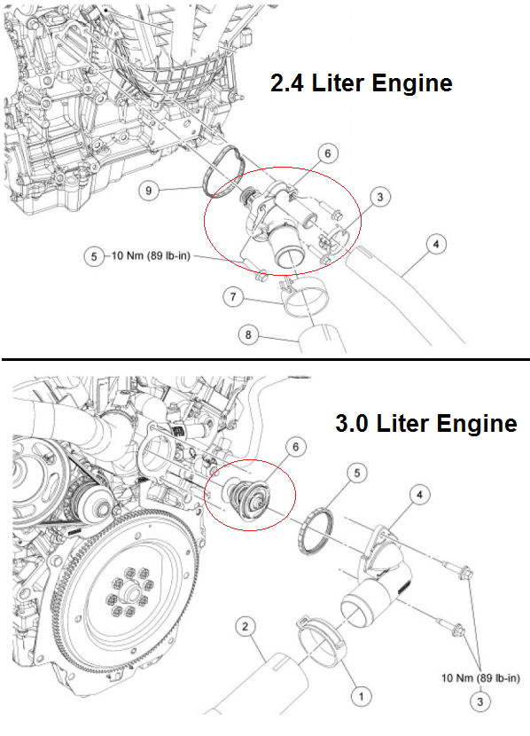 P0116 2011 FORD FUSION Engine Coolant Temperature Sensor 1