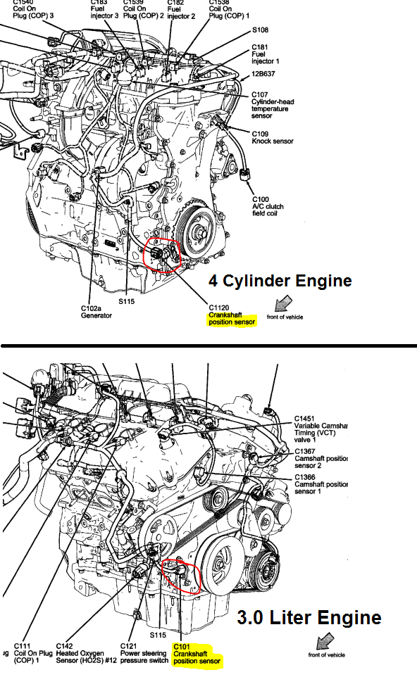 P0320 2008 FORD FUSION Ignition/Distributor Engine Speed