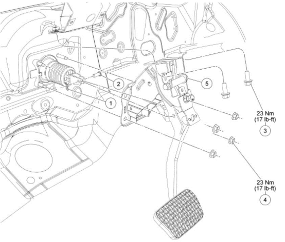 P1572 2008 FORD FUSION Brake Pedal Switch Circuit