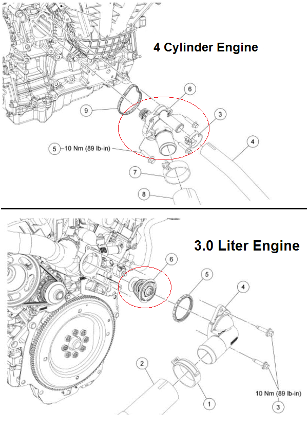 P1116 2012 FORD FUSION Engine Coolant Temperature Sensor