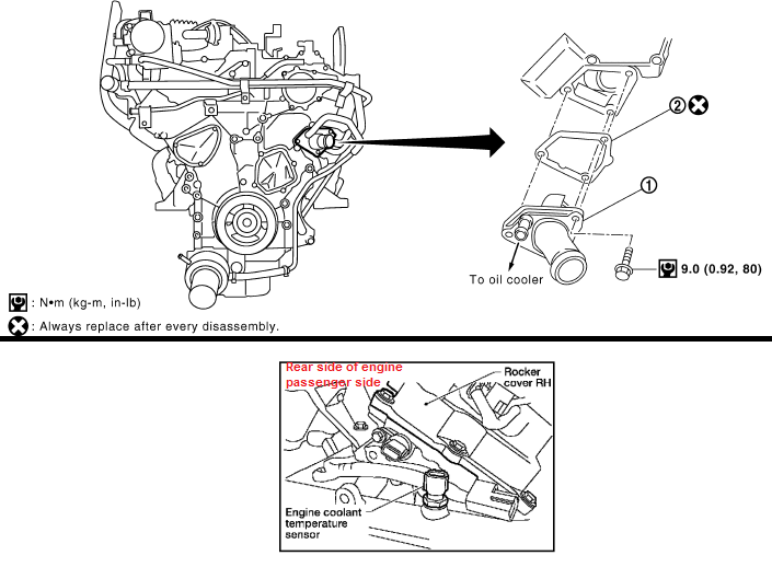 P0125 2005 NISSAN PATHFINDER Engine Coolant Temperature Sensor