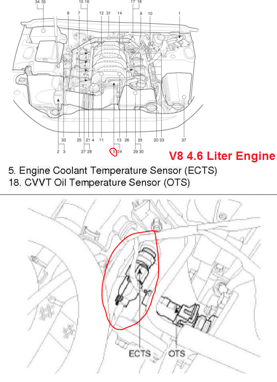 P0116 2013 Hyundai Genesis Sedan Engine Coolant