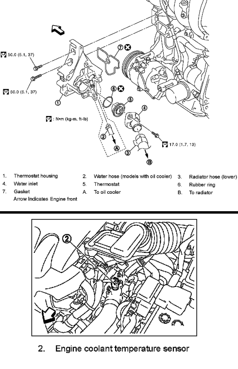 P0118 2012 NISSAN VERSA Engine Coolant Temperature Sensor