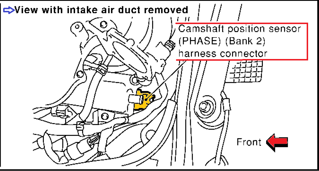 nissan pathfinder exhaust system diagram single pole pulling unit p0345 2003 infiniti g35 camshaft position sensor circuit bank 2
