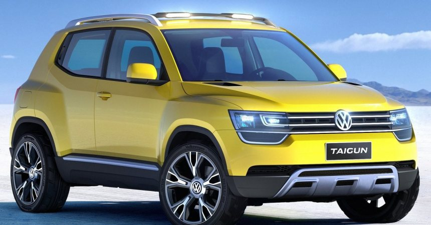 VW Taigun in yellow colour