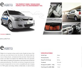 2014 Mahindra verito electric brochure scan