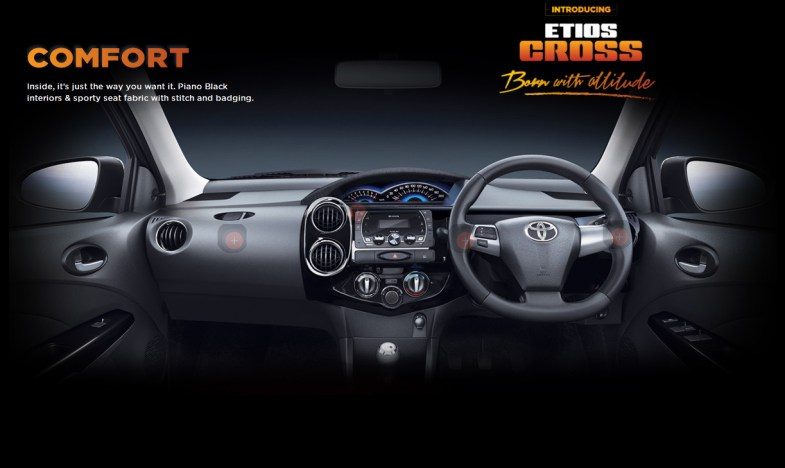 2014 Toyota Etios cross dashboard