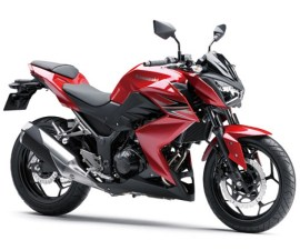 2014 Kawasaki Z250 in red