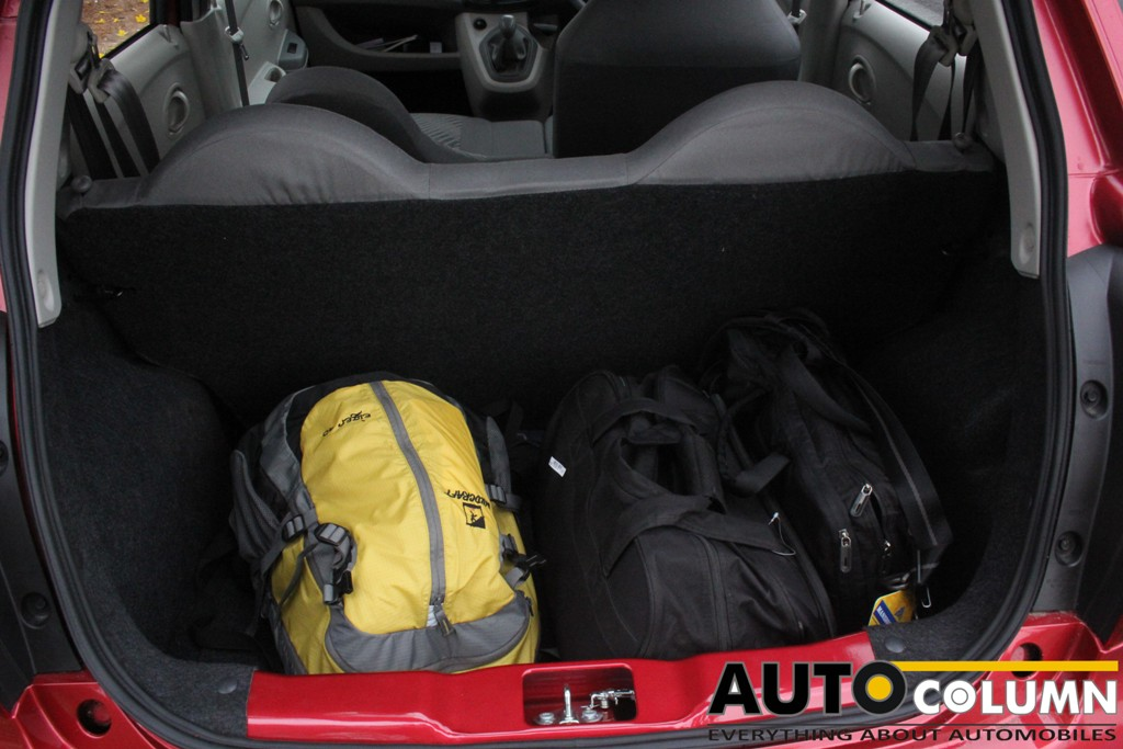 Boot space is aplenty for a hatchback. More space has been liberated by not having a rear parcel shelf