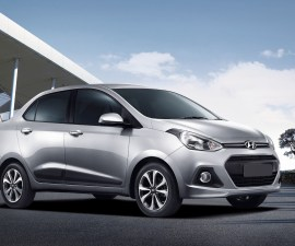 2014 Hyundai Xcent front three quarters