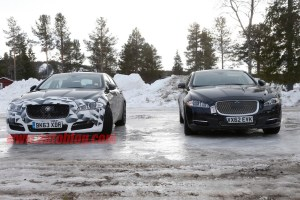 Jaguar XJ facelift spy shot