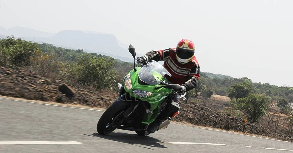 Excellent brakes on the Ninja 1000 make stopping a breeze