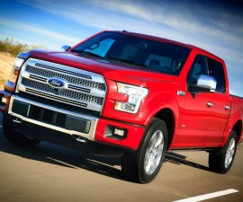 2015 Ford F150 front