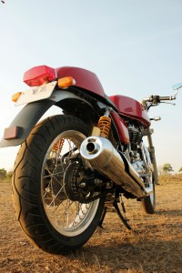 Royal Enfield Continental GT rear three quarters