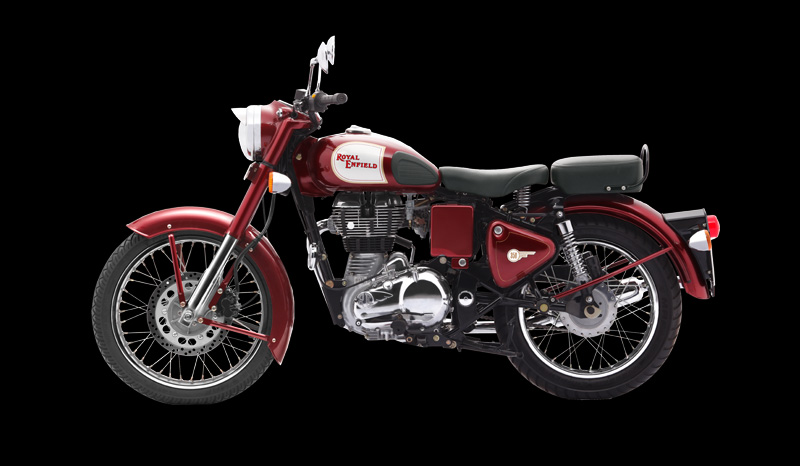 Royal Enfield Classic 350 royal maroon colour left side