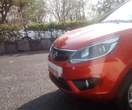 2014 Tata Bolt headlamp closeup shot