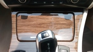 2014 BMW 520d wooden inserts on center console