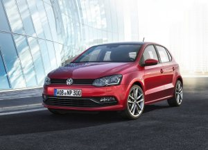 2014 VW Polo in red