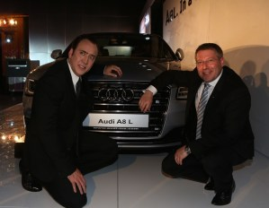 2014 Audi A8L with Nicolas Cage and Mr. Joe King