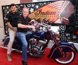 Indian Motorcycles inauguration Mr. Pankaj Dubey and Mr. Bennett Morgan