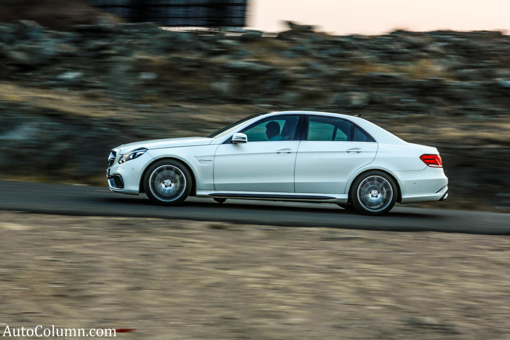 2014 Mercedes Benz E63 AMG sedan speeding
