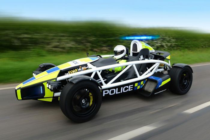Arial Atom with British police in action