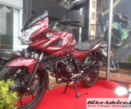 2014 Bajaj Discover 150F full side profile