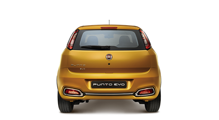2014 Fiat Punto Evo rear profile