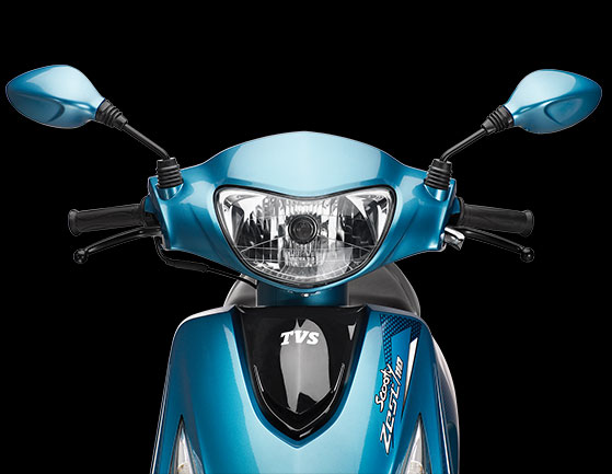 2014 TVS sooty zest 110 front profile