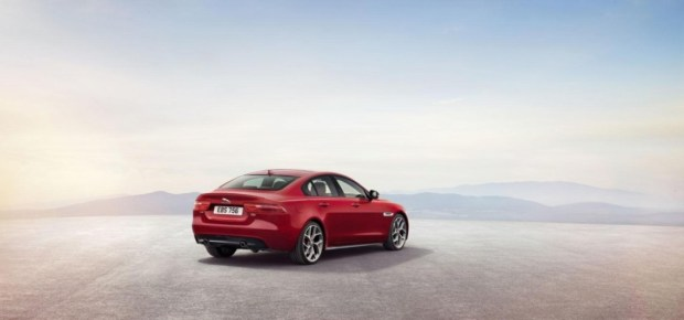 2014 Jaguar XE rear three quarters
