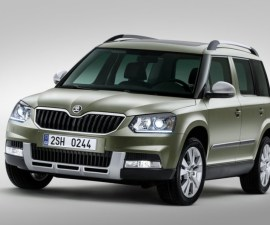 2014 Skoda Yeti SUV facelift front three quarters