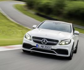 2015 Mercedes Benz C63 AMG front three quarters