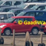 Maruti Swift facelift spotted in India