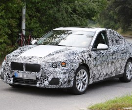 2017 BMW 1-Series sedan spied