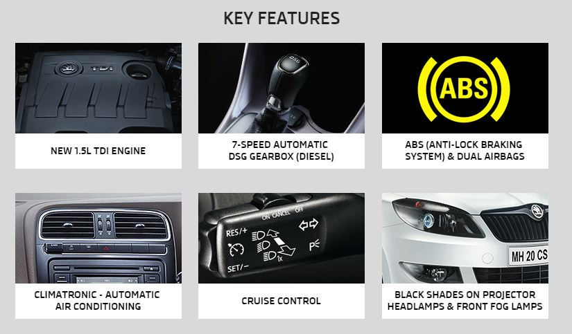 Skoda Rapid  features