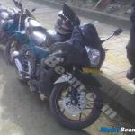 Suzuki Gixxer Based Fully Faired Bike Spotted Testing